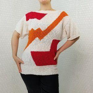 Vintage 1990s Liz Claiborne colourblock knit top